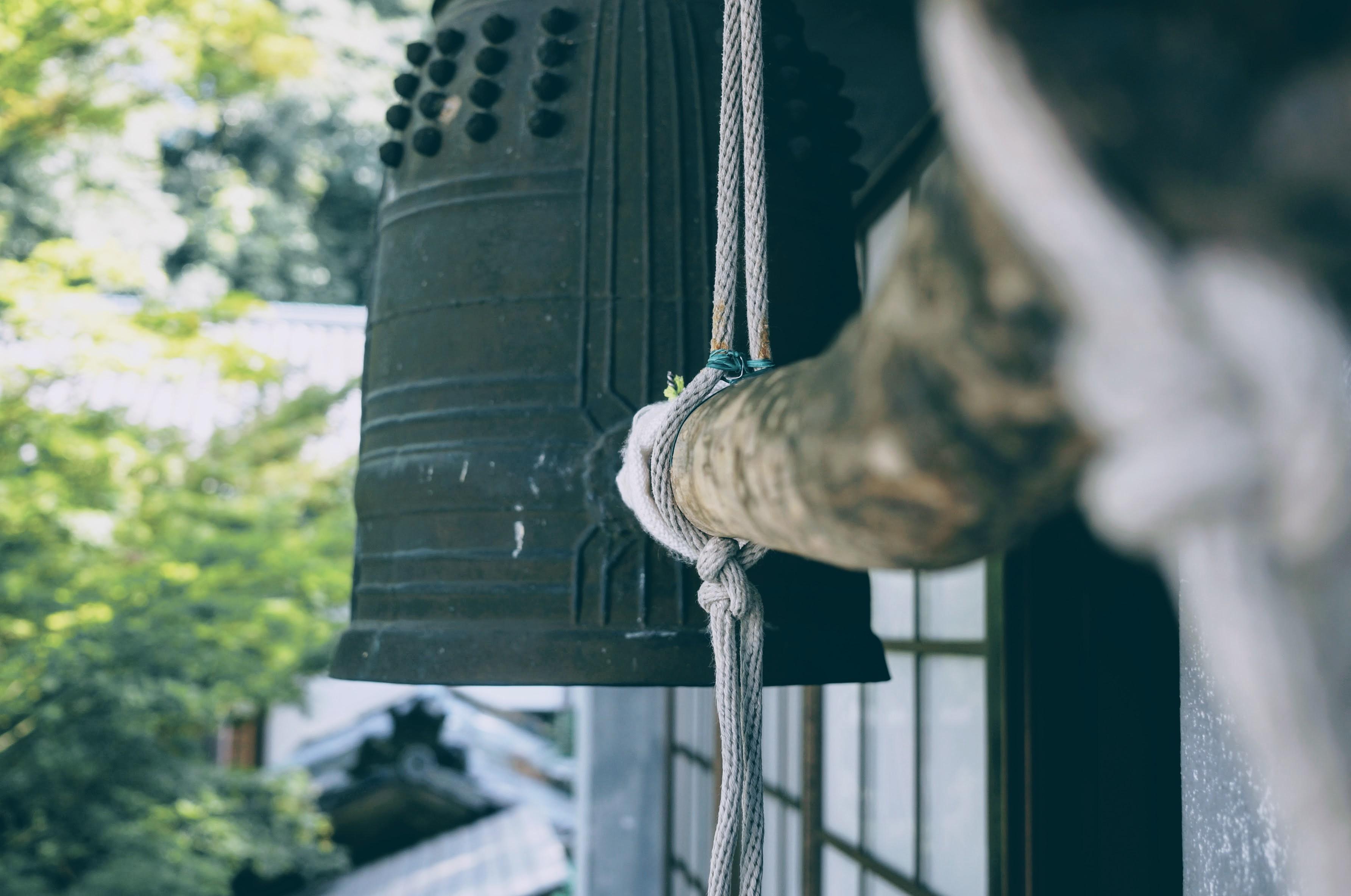 実際の収録に使われた鐘